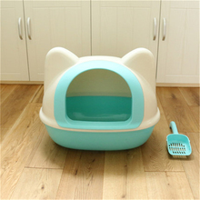Large Plastic Litter Box Scoop Bedpans Cofre Training Restroom Animal Toilet Dog Tray Pet Wc For Sand Cat Litter Box QQM2318