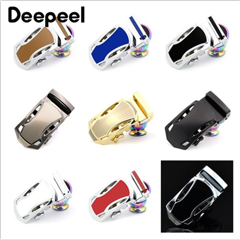 Deepeel 3pcs 35mm Fashion Alloy Men Belt Buckles Automatic Buckle Head For 33-34mm Belt DIY Leather Craft Decorative Hardware