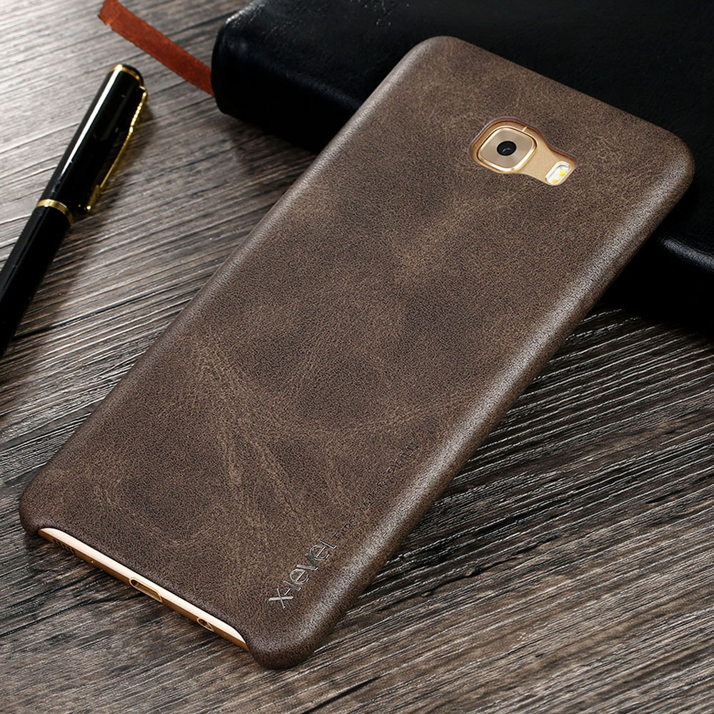 cheap for discount 7140e d10ad US $9.99 |X Level For Samsung Galaxy C9 Pro Case Retro Luxury PU Leather  Back Cover Slim Fundas For Samsung C9 Pro Phone Cases-in Fitted Cases from  ...