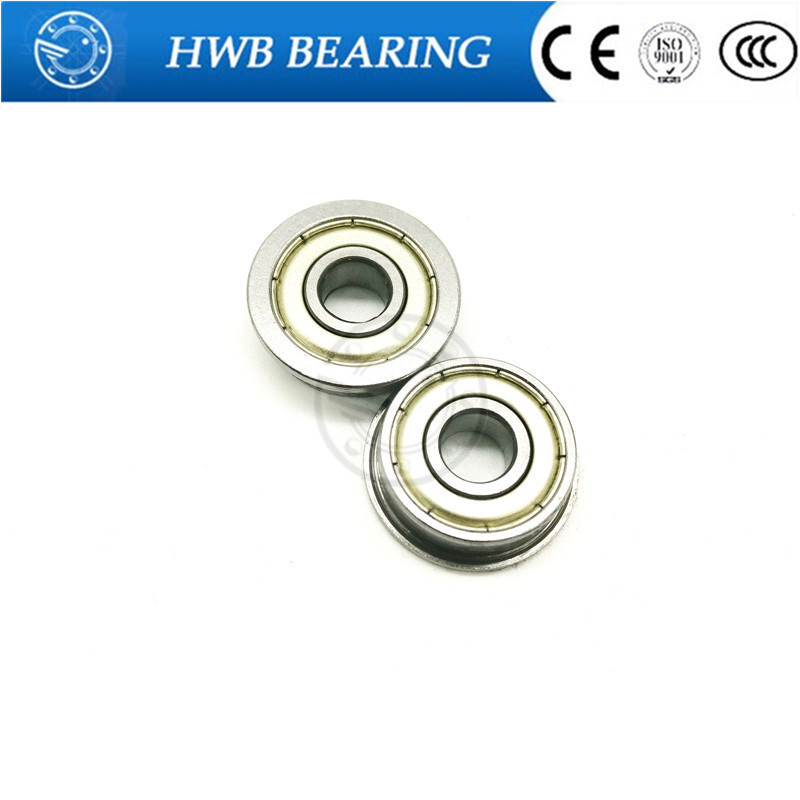 F688ZZ 8x16x5mm Miniature Metal Bearing Flanged Ball Bearing 10 PCS