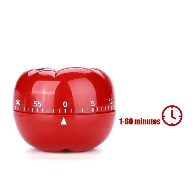 Tomato Kitchen Timers 60 Minutes Cooking Mechanical Home Decorating Dial Timers High Quality Kitchen Tools Gadget Accessories