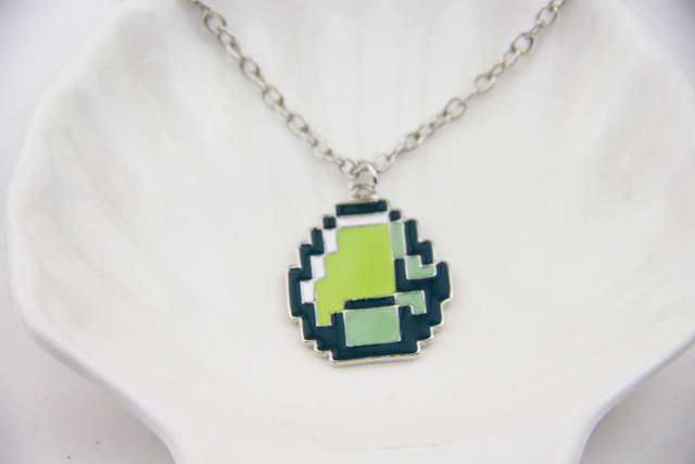53a327751 Fashion Jewelry New boys girls Minecraft JJ My world Green strange coolie  face Pendant Necklace Great