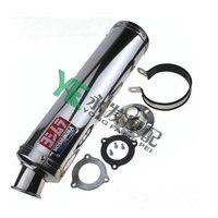 MOKALI stainless steel tubo de escape for honda CB400 CB 1 ZRX ZXR XJR400 VTEC CBR23/29 VFR400 FZR400 echappement moto universel