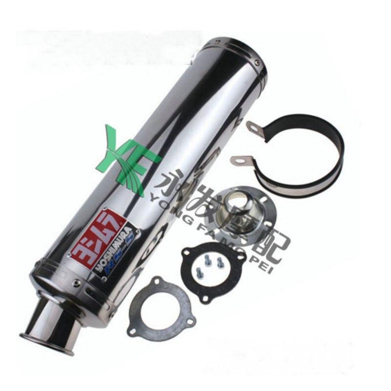 MOKALI stainless steel tubo de escape for honda CB400 CB-1 ZRX ZXR XJR400 VTEC CBR23/29 VFR400 FZR400 echappement moto universel