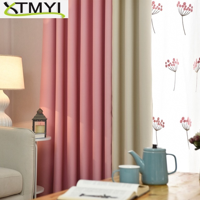 Modern Blackout Curtains For Living Room Pink Green Blue Purple Bedroom Finished D Window Treatment