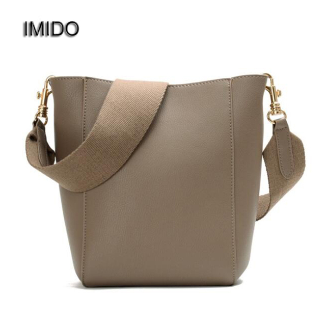 Imido Luxury Design Women Messenger Bag Genuine Leather Cowhide Handbags Las Crossbody Chain Strap Shoulder