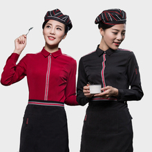 Overalls Workers Coffee Hotel Fast-Food Waiters Restaurants And Female Winter Long-Sleeved
