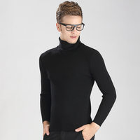High Quality Winter Christmas Thick Warm Merino Wool Turtleneck Sweater Men Brand 100 Pure Cashmere Pullover