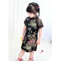 Baby Girl NEW YEAR Long Dresses Kid Chinese Style Chi Pao Qipao Cheongsam Gift