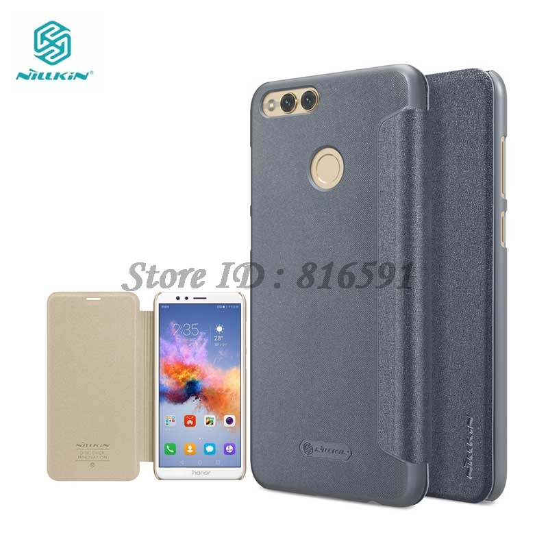 Nillkin Huawei Honor 7X Case Sparkle Series Hard Plastic PU Leather Cover Case for Huawei Honor 7X