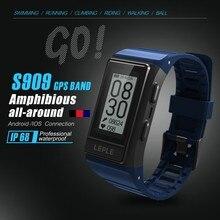 S909 que S908 Pulseira Smartwatch Relógio Inteligente Homens Esportes GPS Monitor de Freqüência Cardíaca de Fitness Rastreador IP68 À Prova D' Água Pulseiras
