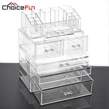 CHOICE FUN Clear Drawer Organizer Makeup Organizer Multifunction Storage Box Acrylic Makeup Drawer Organizer Box SF-20143-521