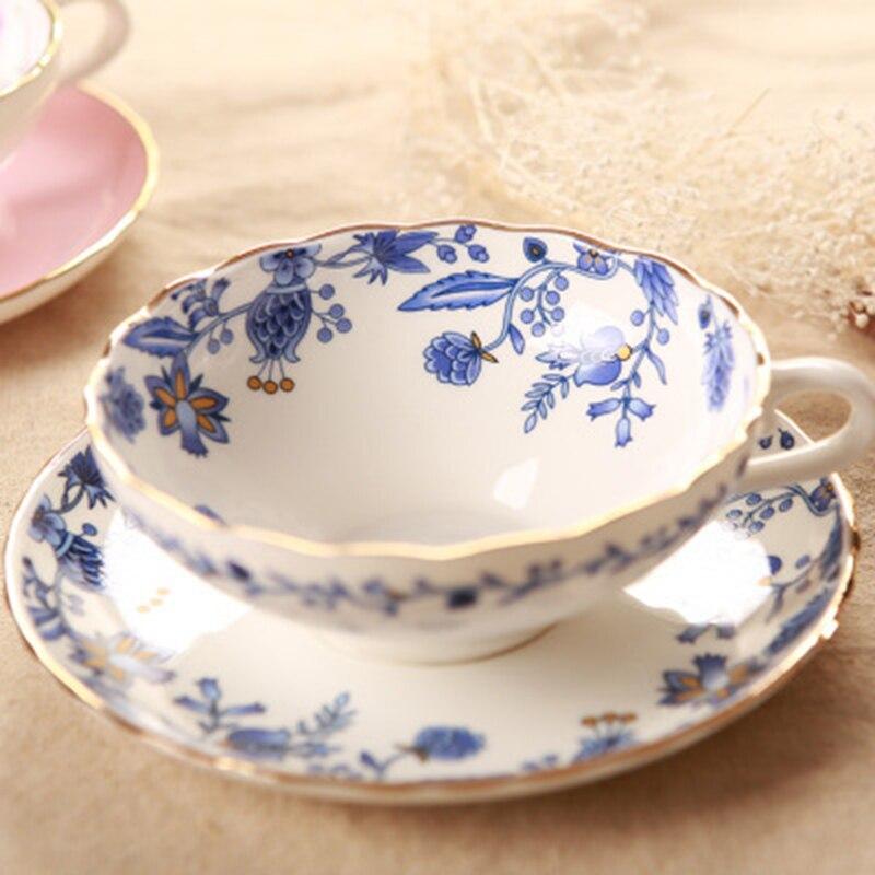 Набор европейских кофейных чашек из костяного фарфора, фруктовый узор, высокосортная керамическая чашка для любителей латте, 101-200 мл