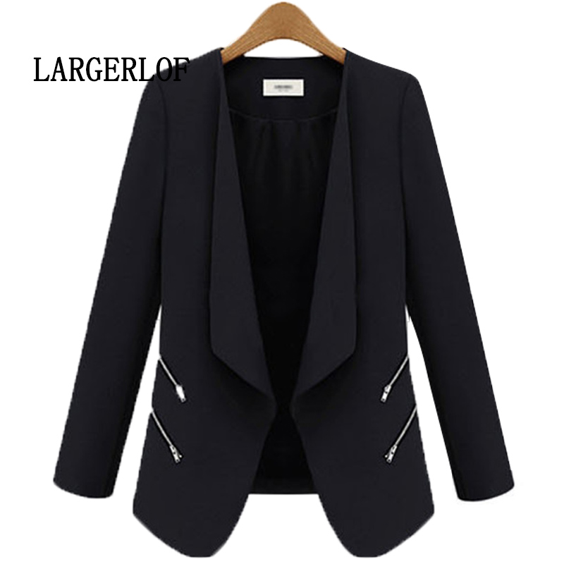 LARGERLOF Women Blazer Autumn Spring White Blazer Women Colther 2018 Women Blazers And Jackets BR57109