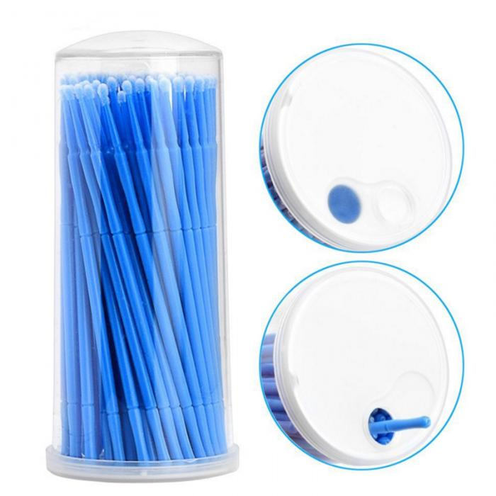 Micro escova descartável microbrush aplicadores cílios extensões