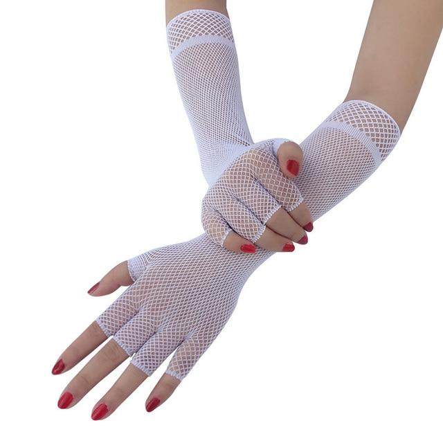 Women Elbow Gloves Hollow...