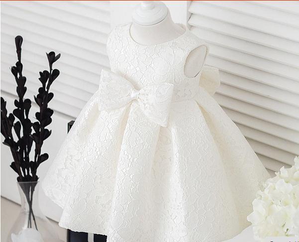 Sommer Mädchen Kleider für Hochzeit Blumenmädchen Kleid Bogen Partei ...
