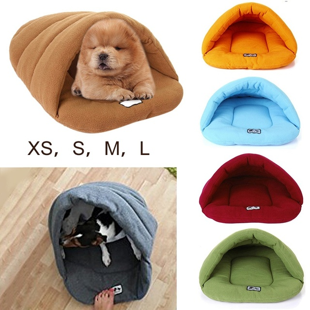 6 Colors Soft Polar Fleece Pet Mat Winter Warm Nest Pet Cat Small Dog Puppy Kennel Bed Sofa Sleeping Bag House Puppy Cave Bed 1