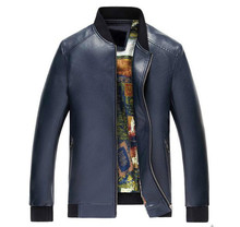Men's Faux Sheep Leather Jackets Men Motocycle Leather Jacket Slim Fit Leather Clothing Leather Handsome Coat Bomber Man Jacket
