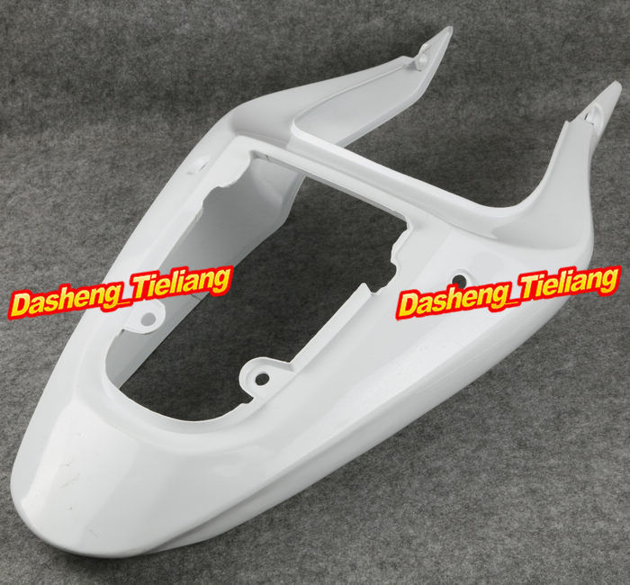 Unpainted Motorcycle Tail Rear Fairing For Suzuki 2000-2003 GSXR 600 750 GSXR600 GSXR750 K1 & 01-03 GSXR1000 K2, ABS Plastic motorcycle rear seat pillion passenger cover tail section solo fairing cowl for suzuki gsxr600 gsxr750 gsxr 600 750 2006 2007