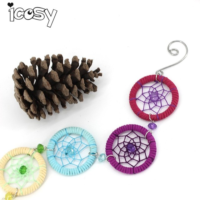 Icosy Handmade Dream Catcher Multi Color Home Decor For Wall Hanging Children Room Decoration Mascot Craft