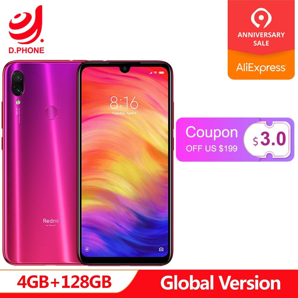 Versión Global Xiaomi Redmi Note 7 4 GB 128 GB Snapdragon 660 AIE Octa Core 6,3 Pantalla Completa 48MP la cámara trasera del teléfono móvil