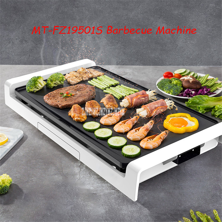 MT-FZ19501S Barbecue Machine Household Non-Sticking Coating Electric Grill 1800W Smoke-Free Electric Barbecue Machine 110V/220VMT-FZ19501S Barbecue Machine Household Non-Sticking Coating Electric Grill 1800W Smoke-Free Electric Barbecue Machine 110V/220V