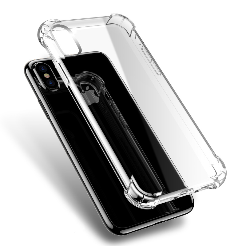 CAPSSICUM Ultra Anti-knock Soft Clear case for iPhone X Xs Max XR Air Cushion TPU Back Cover Transparent for iPhone X Xs Max XR