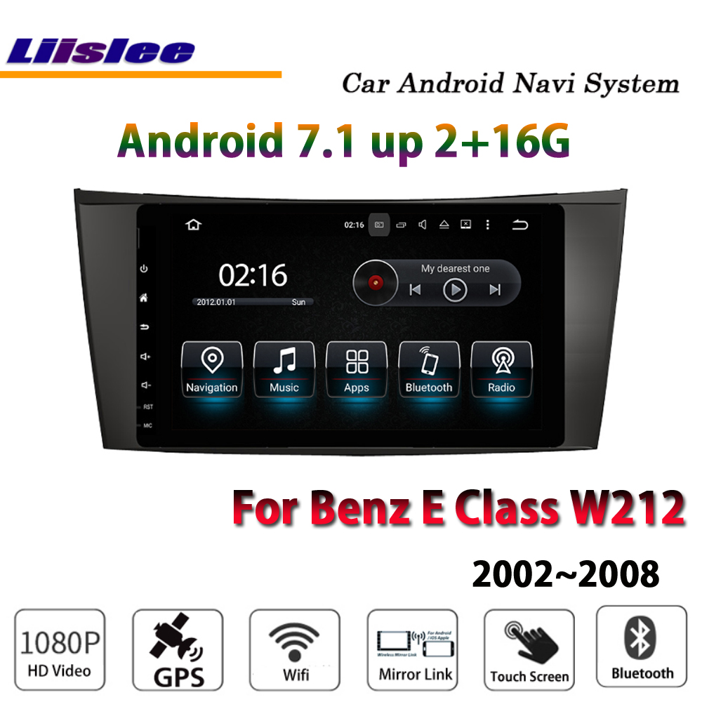 Liislee Car Android <font><b>Multimedia</b></font> For <font><b>Mercedes</b></font> Benz E <font><b>W212</b></font> 2002~2008 Stereo Radio Carplay DVD Player GPS Map Navi Navigation System image