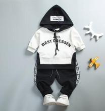 Baby Boy Girl Clothing Set High Quality Spring Kids  Clothes Letter Hooded Suit for Boy Infant Long Sleeve 1-4Years SY-F173202