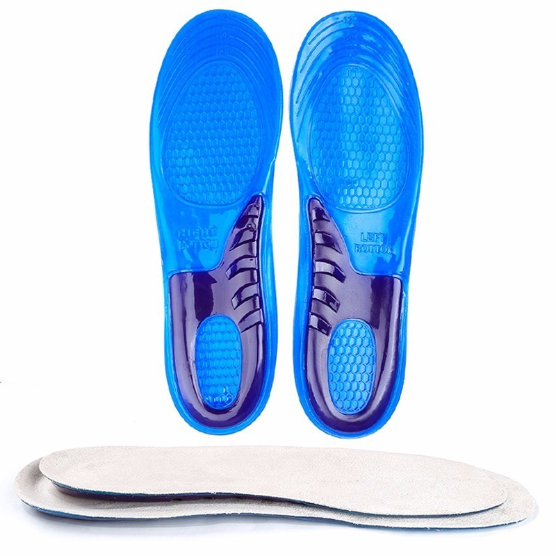 1 Pair Large Size Orthotic Arch Support Massaging Silicone Anti-Slip Gel Soft Sport Shoe Insole Pad For Man Women insoles 2