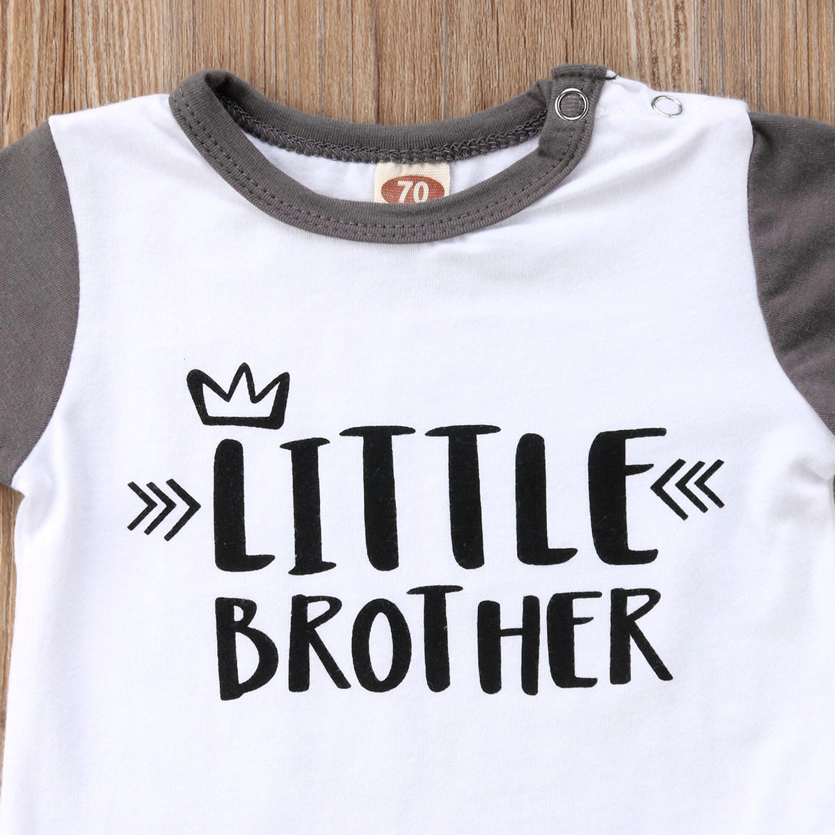 b9a1848c5 0-24M Toddler Baby Boys clothes set Tops Little Brother Romper Top ...