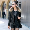 Genuine leather jacket short section women's 2017 new PU leather jacket plus cotton collar Slim locomotive Leather Jackets LI673