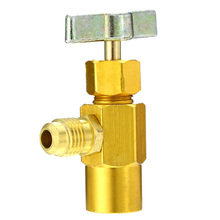 R-134a Refrigerant Can Bottle Tap 1/4 SAE M14 Thread Adapter Opener Valve For Air conditioning