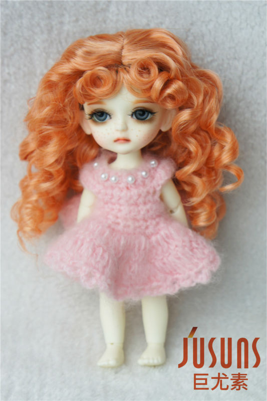 JD276 1/8 Lati yellow doll wigs 5-6inch Princess Long curly BJD hair Synthetic mohair doll accessoires jd145 msd synthetic mohair doll wigs 7 8inch long curly bjd hair 1 4 doll accessories
