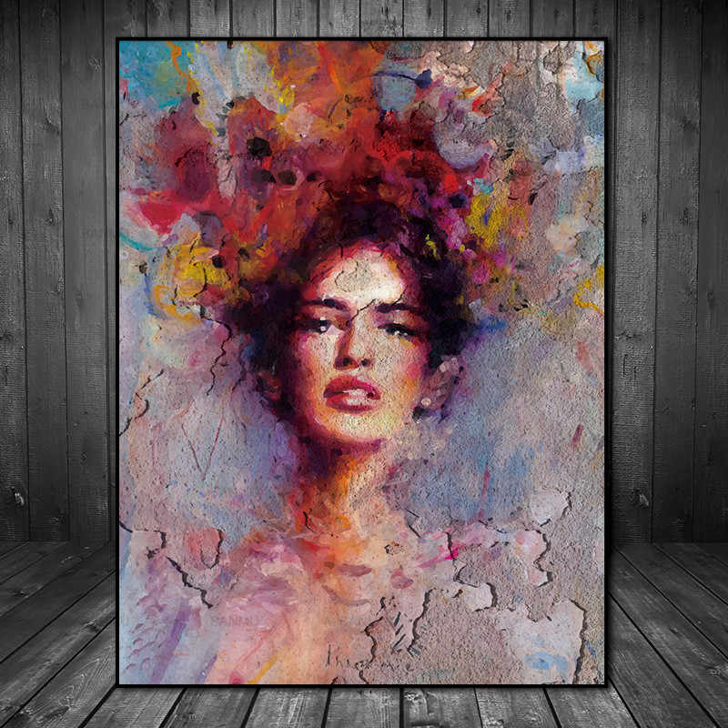 Canvas Painting Pictures Wall poster no frame abstract painting art  prints figure on canvas home decoration for living room