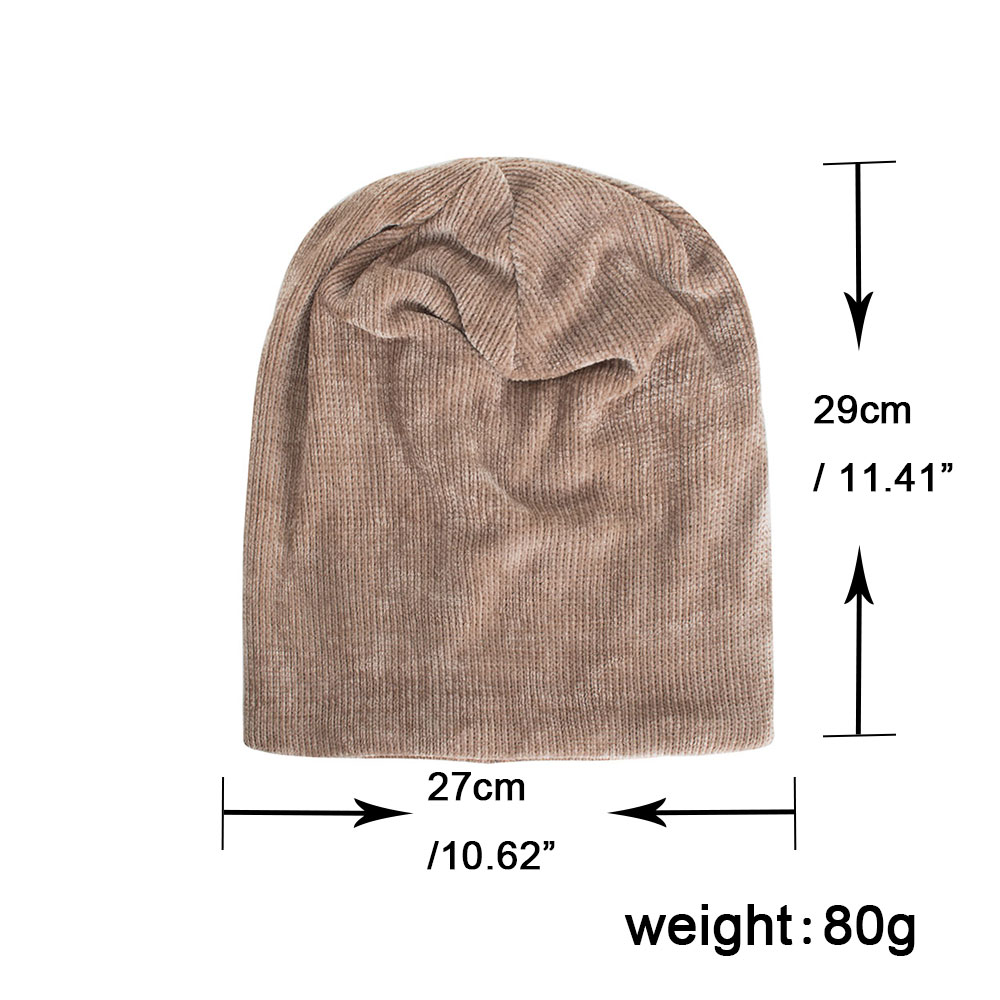 c735ea7c70e Joymay 2018 New Winter Hat Unisex Chenille Skullies   Beanies Knitting Cap  Hats