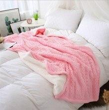 CAMMITEVER 180*120cm Weiche Decken für Betten Baumwolle Decke Bettdecke Bettwäsche Stricken Muster Decke Comfy Schlafen Bett