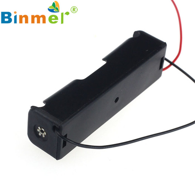 HL  1pcs 18650 Power Battery Storage Case Plastic Box Holder With Leads May  21