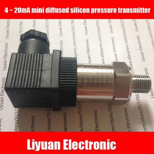 4 20mA mini diffused silicon pressure transmitter 0 1 100MPA Level Transmitter G1 4 negative pressure