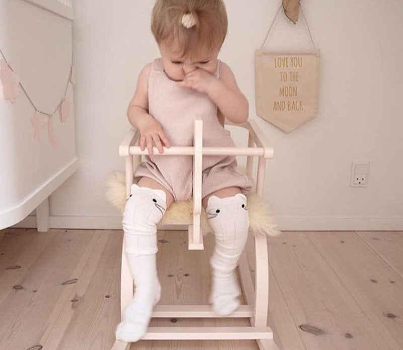 الطفل البوب لطيف الكرتون القطن الطفل طفل الفتيات طفل الركبة عالية الجوارب جوارب