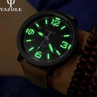 2016 YAZOLE Luminous Watches Men Watch Sports Top Brand Luxury Famous Wristwatch Male Clock Casual Watch