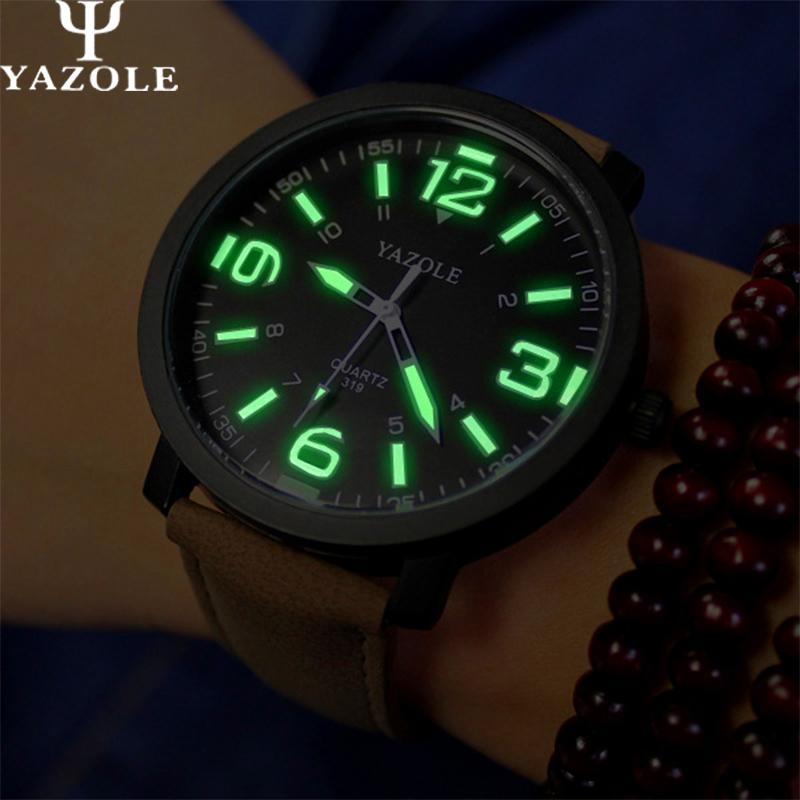 2017 YAZOLE Luminous Watches Men Watch sports Top Brand Luxury Famous Wristwatch Male Clock Casual Watch Fashion Quartz-watch hot sale luminous men watch luxury brand watches quartz clock fashion leather belts watch cheap sports wristwatch relogio male