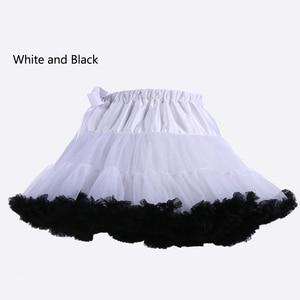 Image 5 - E JUE SHUNG Ball Gown Underskirt Swing Short Dress Petticoat Lolita Cosplay Petticoat Ballet Tutu Skirt Rockabilly Crinoline