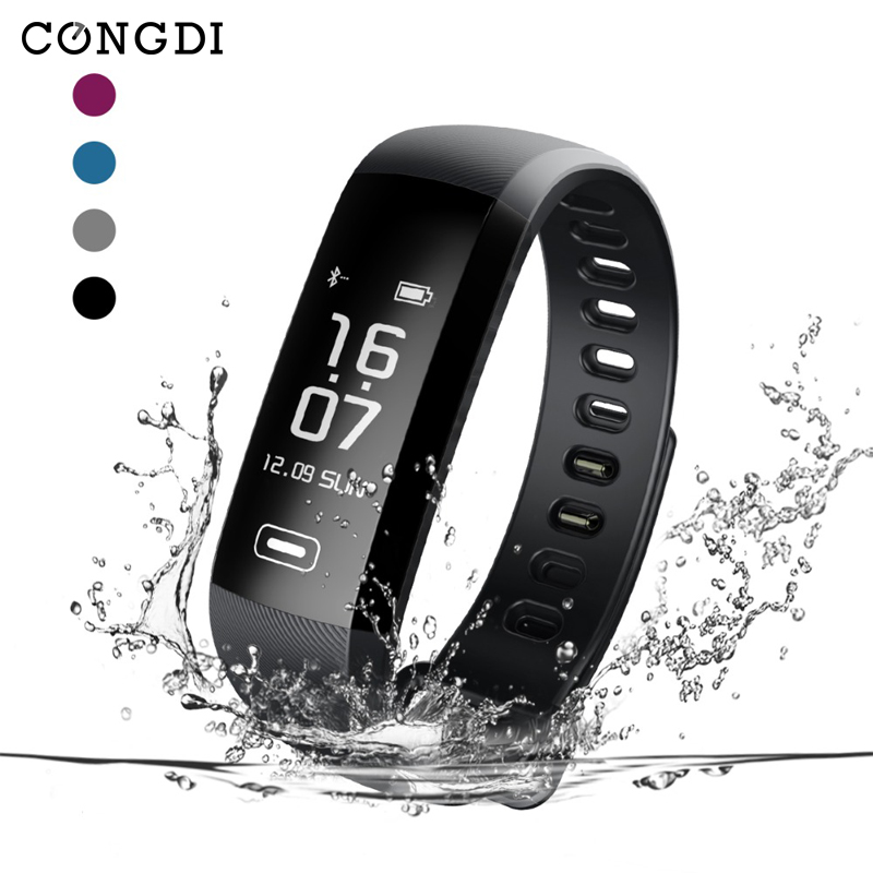 R5MAX Smart Wristbands Smart Bracelet Activity Tracker Pedometer Blood Pressure Bracelet 50 Words Message Push for TEZER