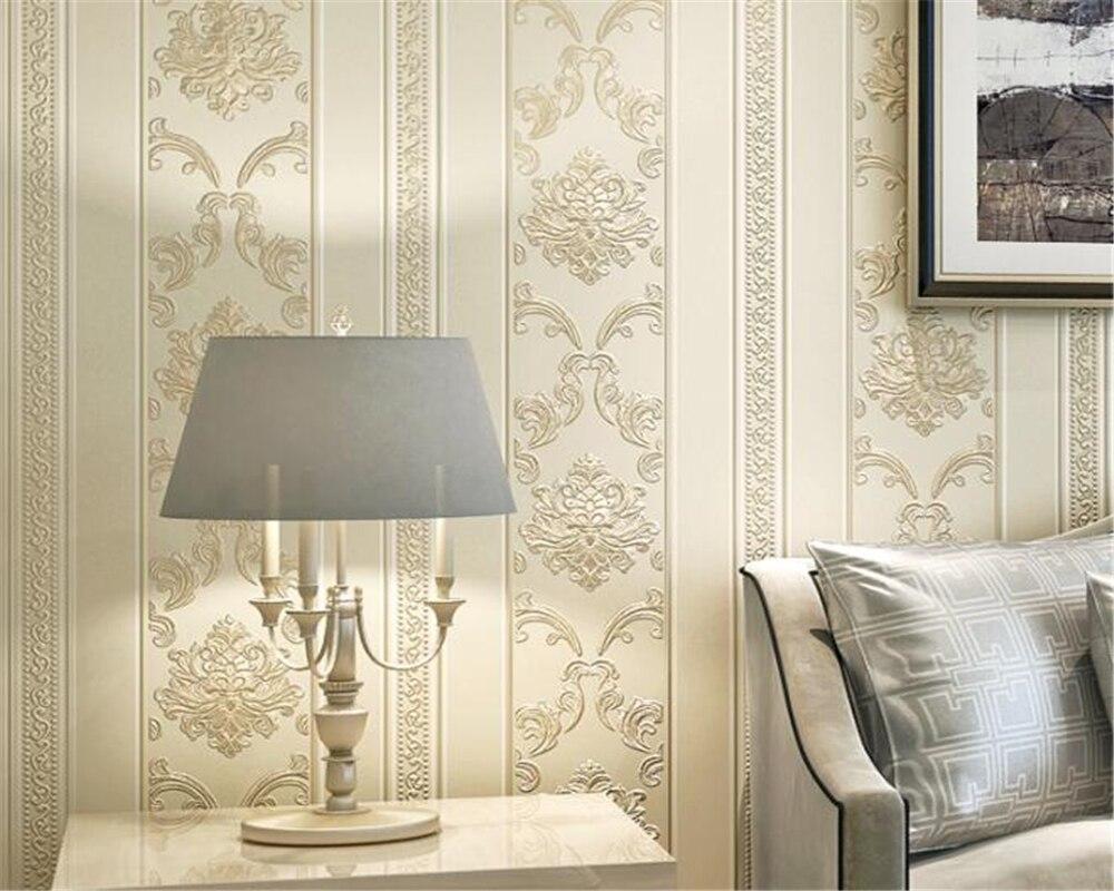 Beibehang Style européen en relief fleurs papier peint pour murs 3D luxe chambre décor salon canapé bleu moderne papier peint