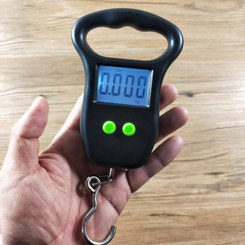 50kg x 10g Mini Digital Scale for Fishing Luggage Travel Weighting Steelyard Hanging Electronic Hook Scale Kitchen Weight Tool image