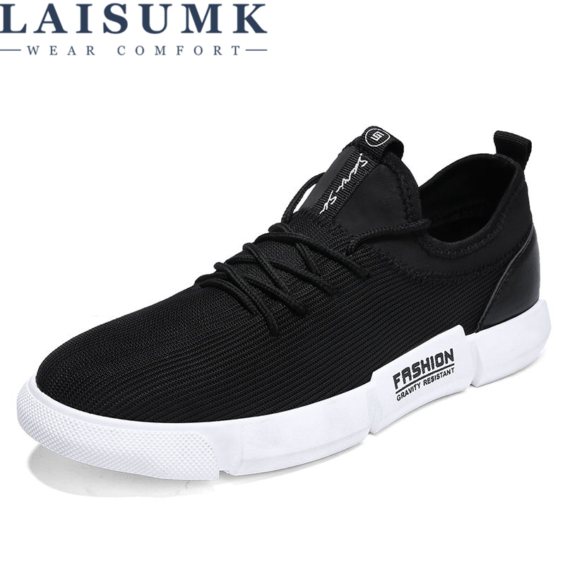 LAISUMK Spring Designed Fly Weave Men Casual Shoes Future Theory Male Breathable Lace Up Chaussure Shoes Sneaker Men Tenis