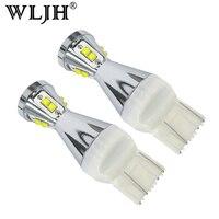 WLJH 2x T20 7443 W21/5 W LED Bombilla Luz Lámpara de Coche Camión Luz de Freno de Marcha Atrás de Copia de seguridad DRL luz para Sonic Chevrolet Spark Silverado