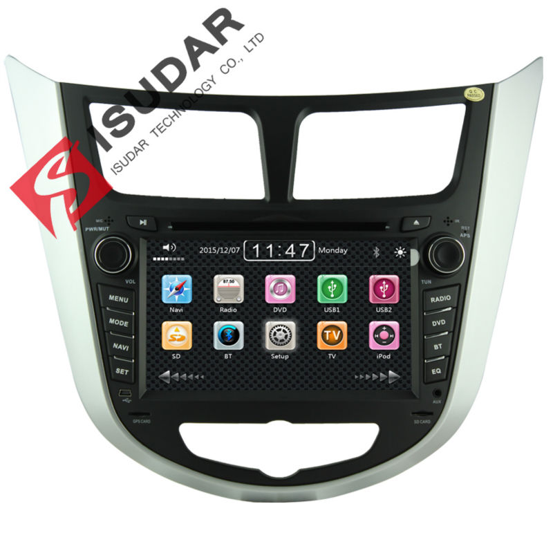 Two Din 7 Inch font b Car b font DVD Player For HYUNDAI Verna I25 Solaris